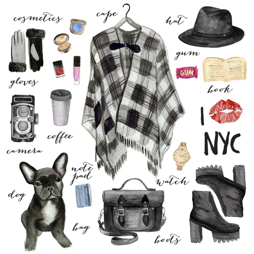 City fashion illustration