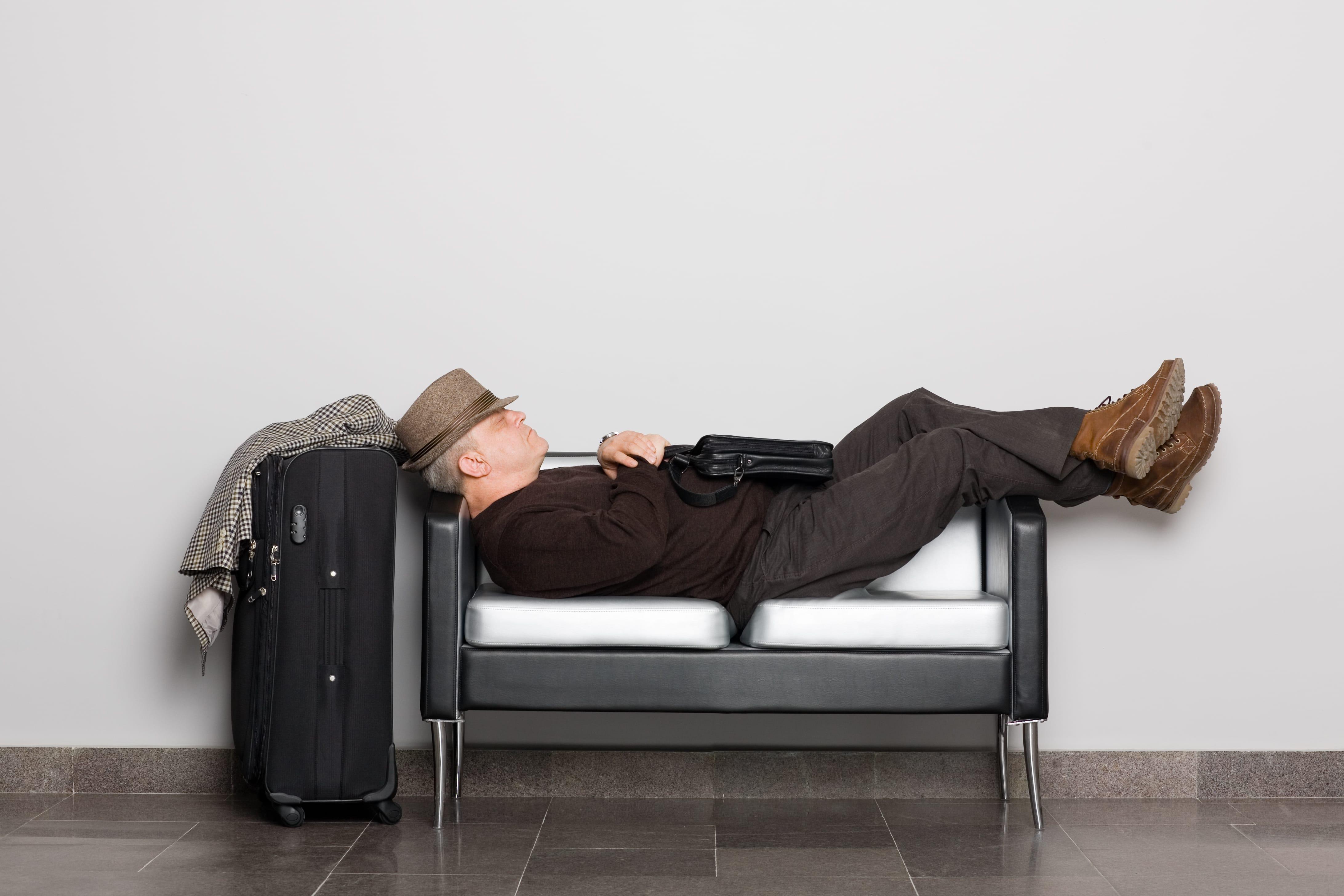 w22-1-Man sleeping on a bench